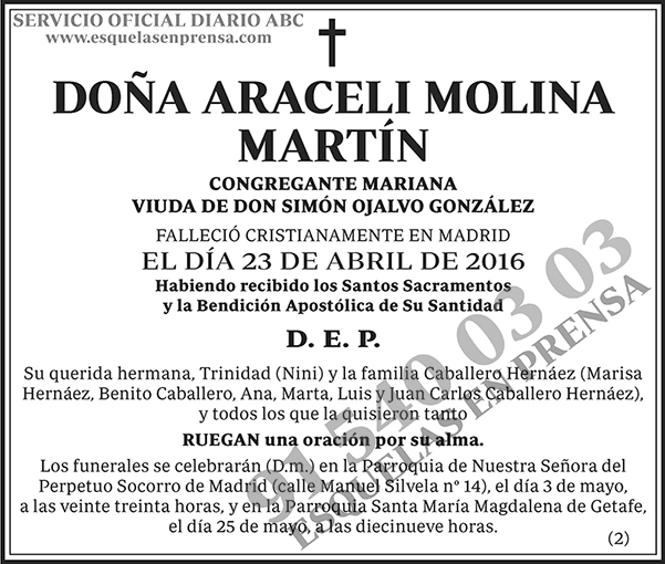 Araceli Molina Martín